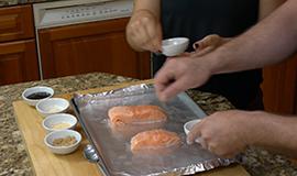 Salmon and Wacky Cake