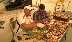 Crab Cleaning with Paul & Kevin